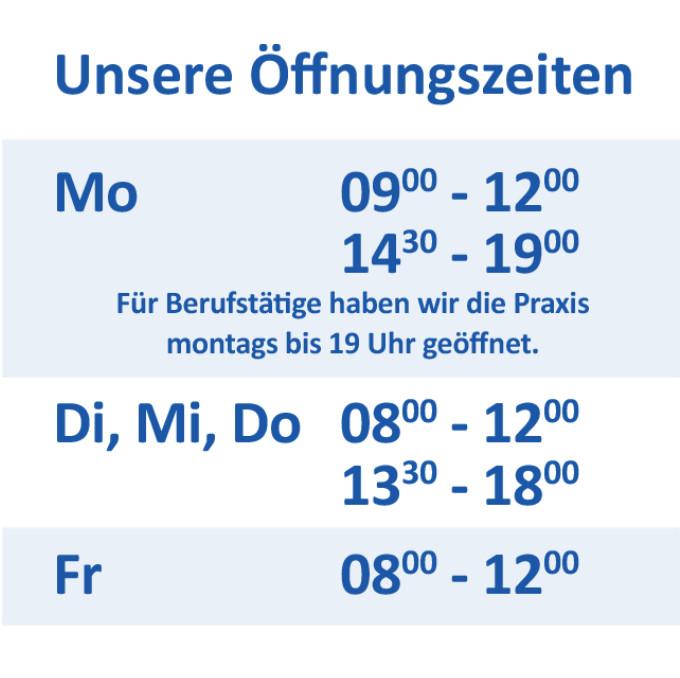 Öffnungszeiten Kieferorthopädie Dr. Grupp in Pforzheim